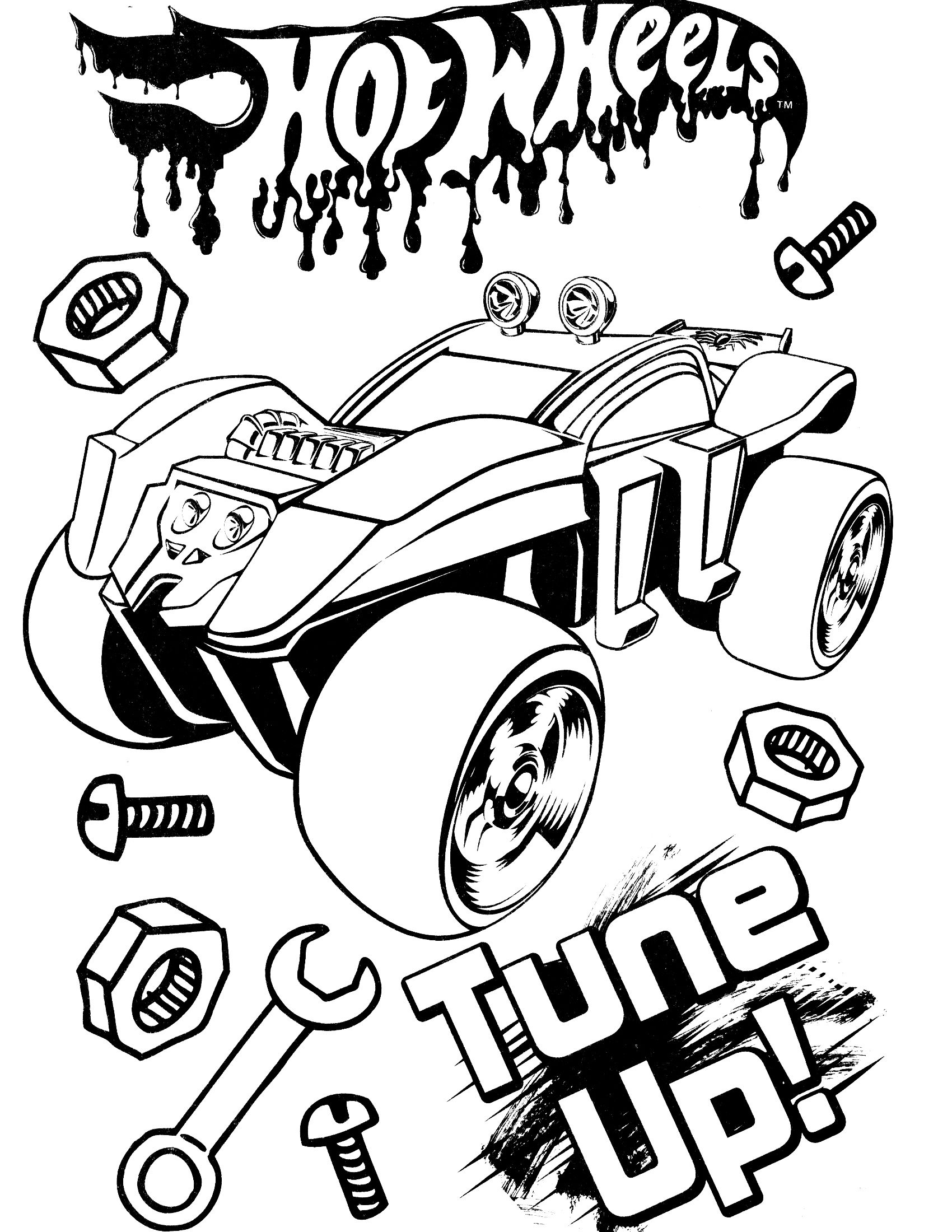 Free Printable Hot Wheels Coloring Pages For Kids Coloring Pages