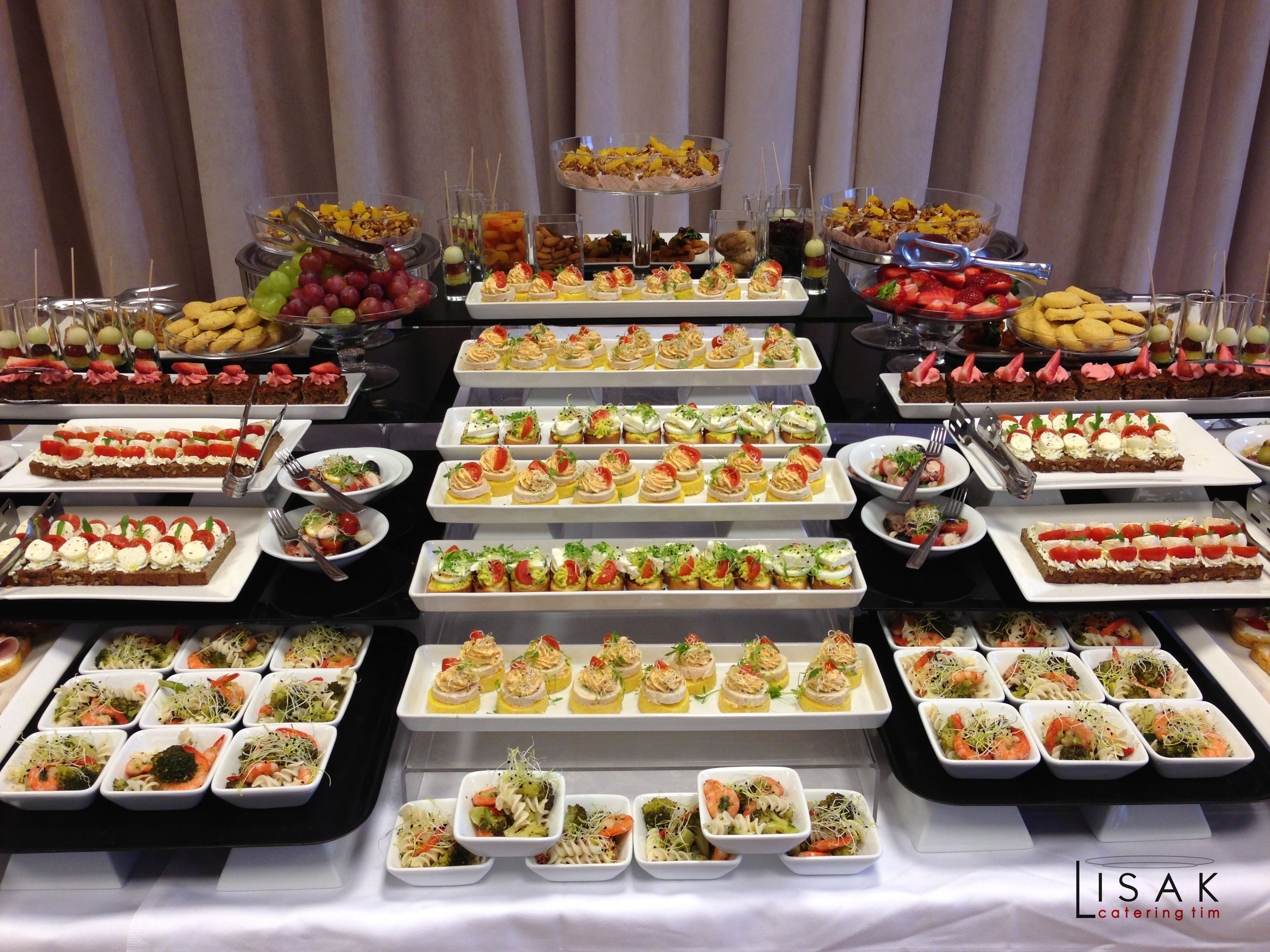 Catering fingerfood party buffet appetizer table food