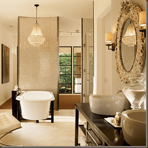 What A Beautiful Chandelier For The Bathroom That Lovely Vintage Inspired Bathrooms Oh La