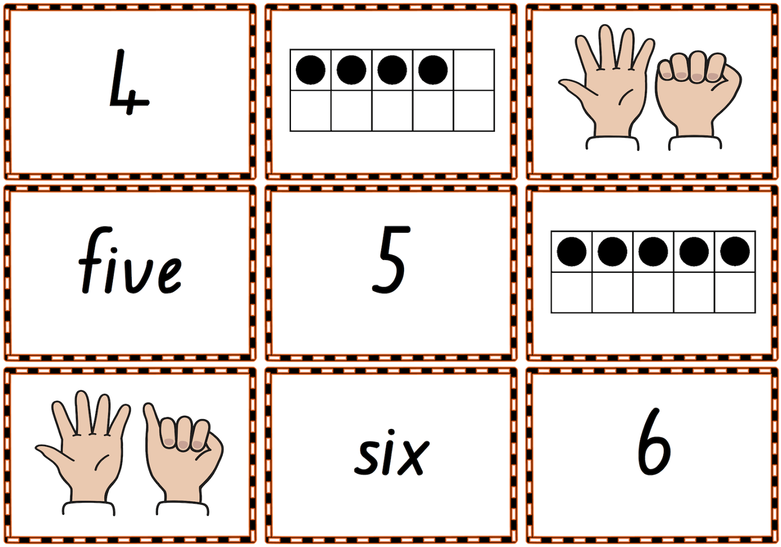 0 10 Memory Match Or Snap Game Cards To Practise Numbers