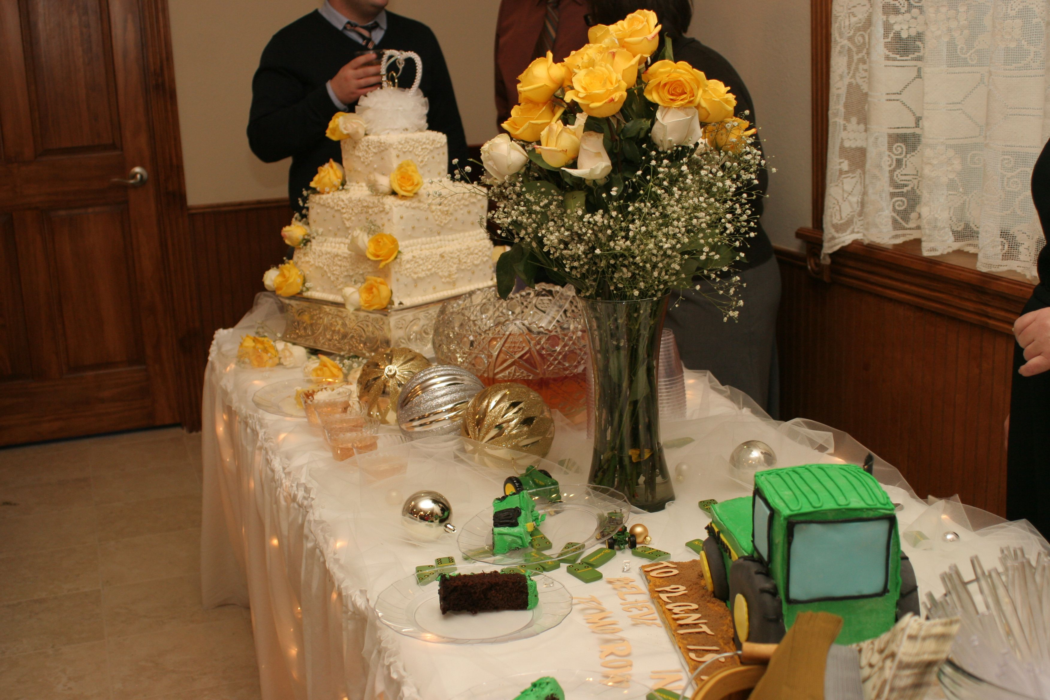50th Wedding Anniversary Cake Table
