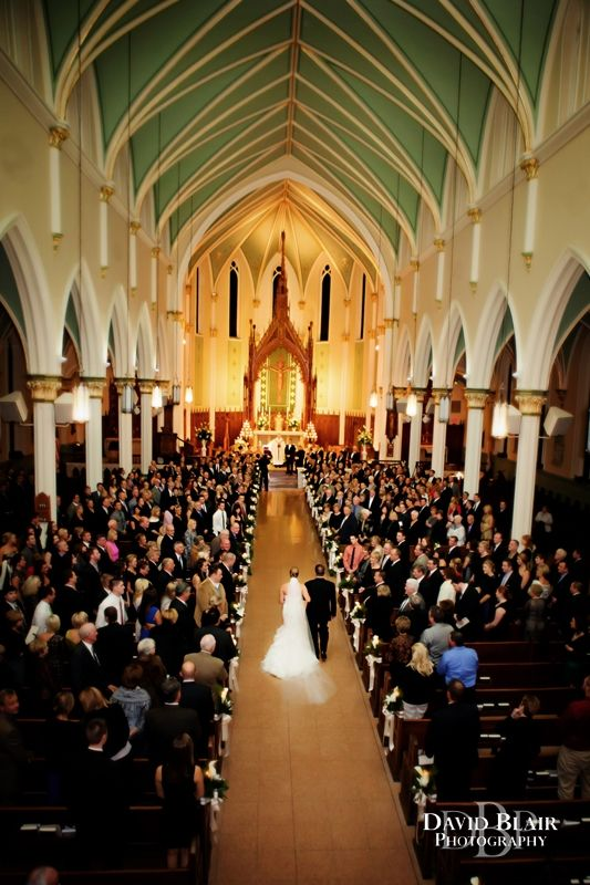 Wedding Ceremony At St Louis Bertrand Catholic Church In