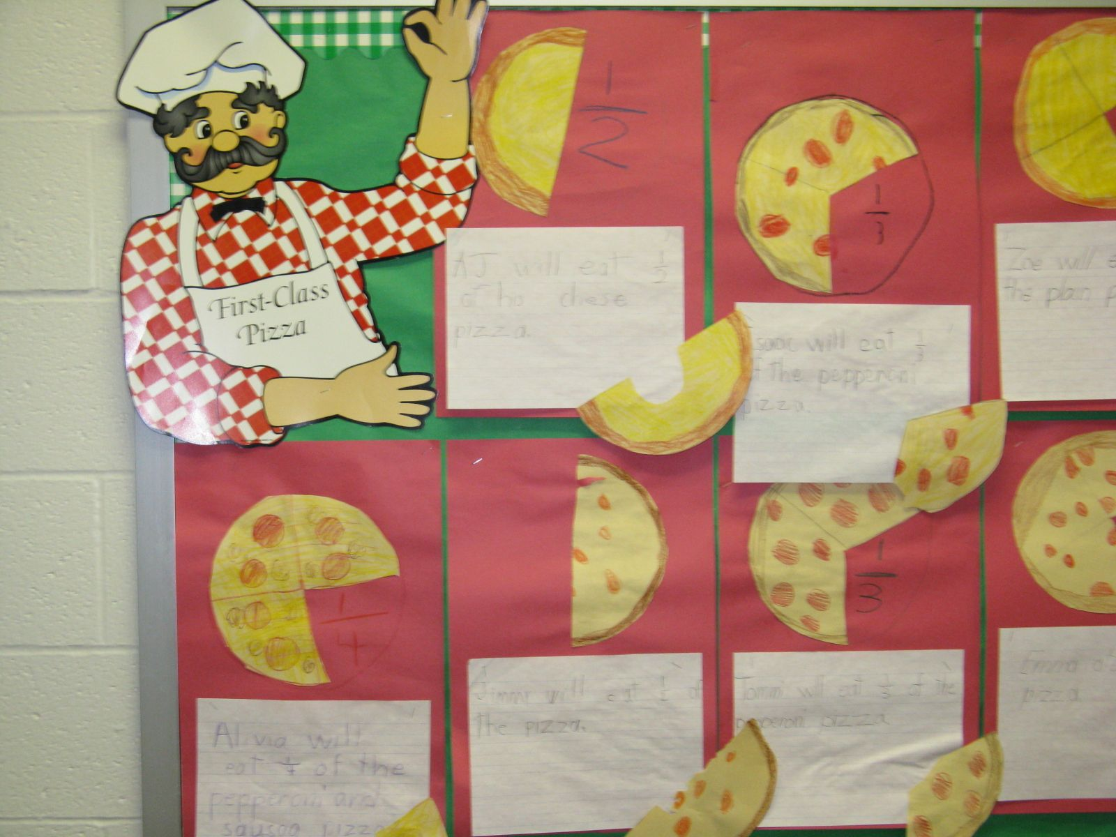 Pizza Fractions Add A Writing Story Problem Component
