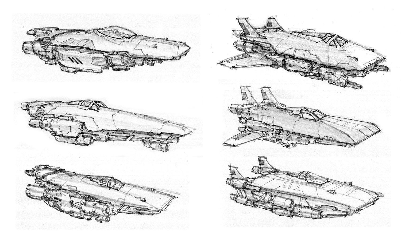 Conceptshipsspot 04 Spaceship Sketches