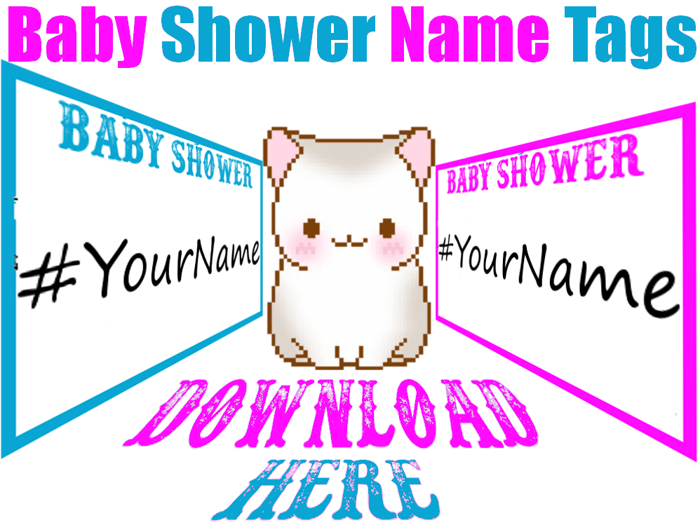 Woodland Baby Shower Decorations! Gender Reveal Name Tag ...