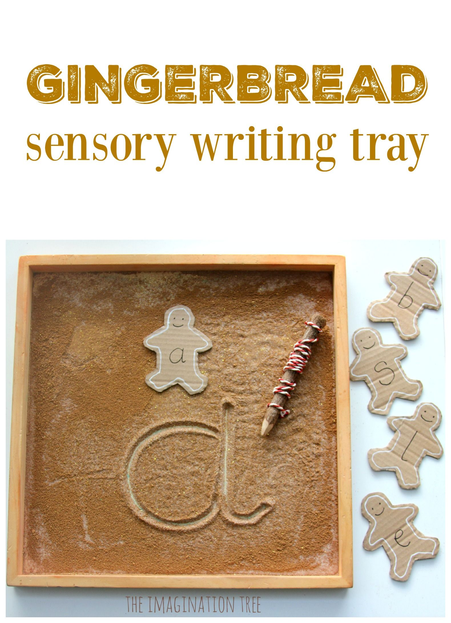 Gingerbread Sensory Writing Tray Number formation