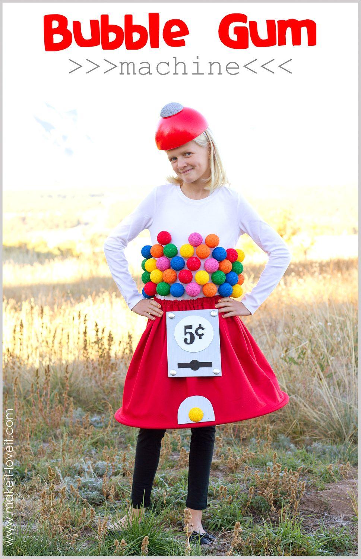 20+ DIY Halloween Costumes Gumball machine costume