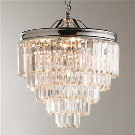 Modern Faceted Glass Layered Mini Chandelier Convertible Chandeliers And Tubs