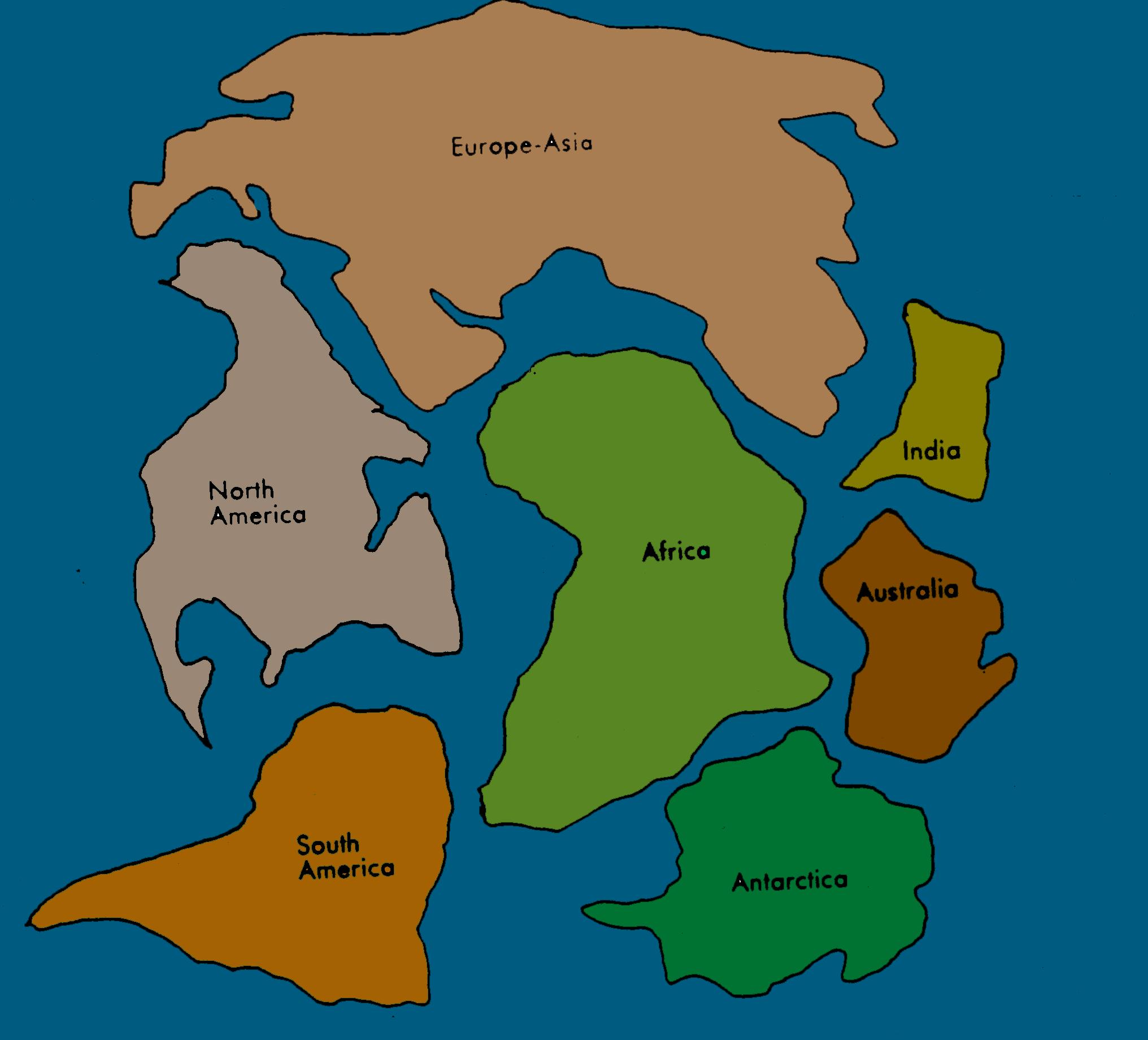 Pangea Map Puzzle