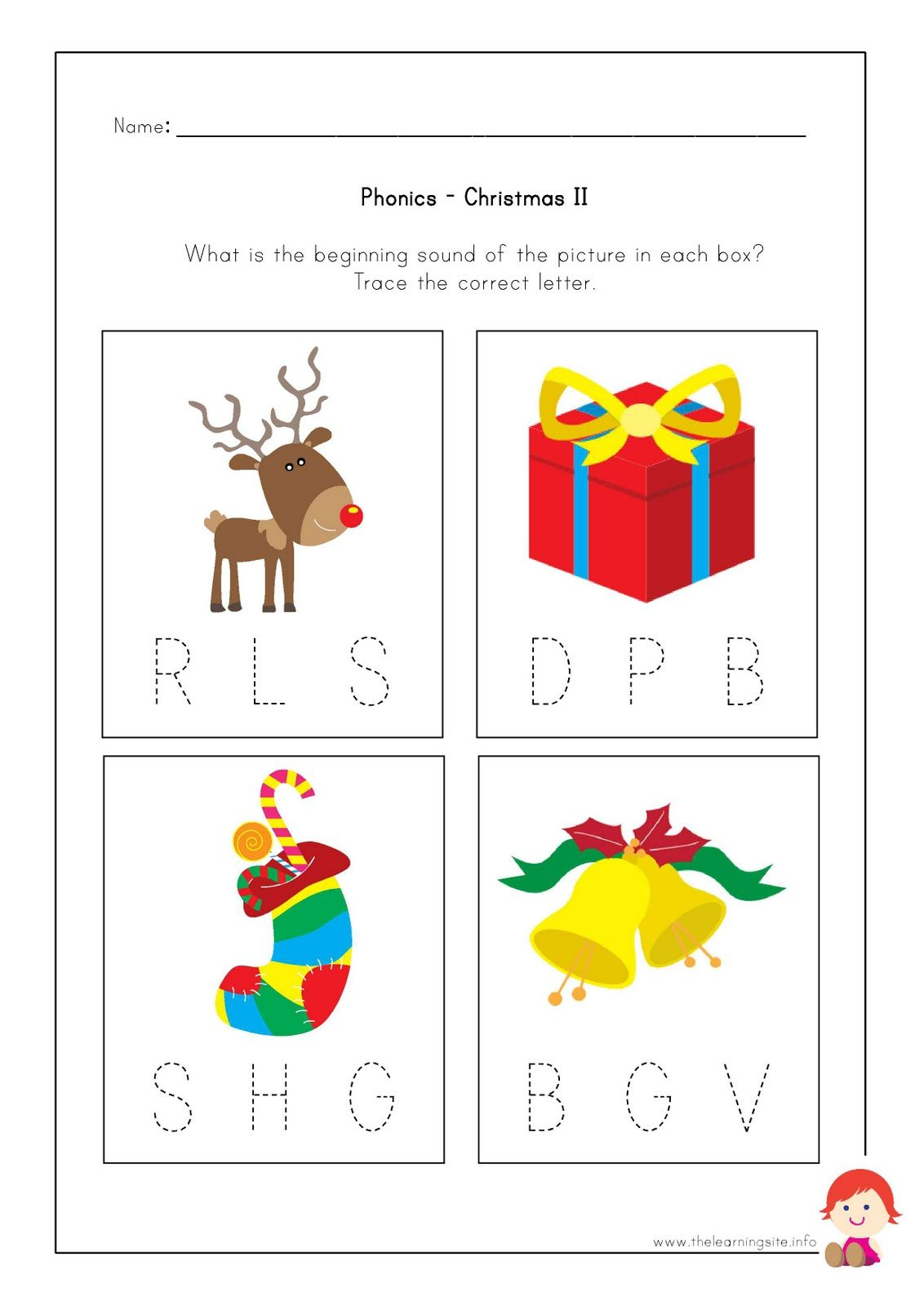The Learning Site Free Christmas Worksheets