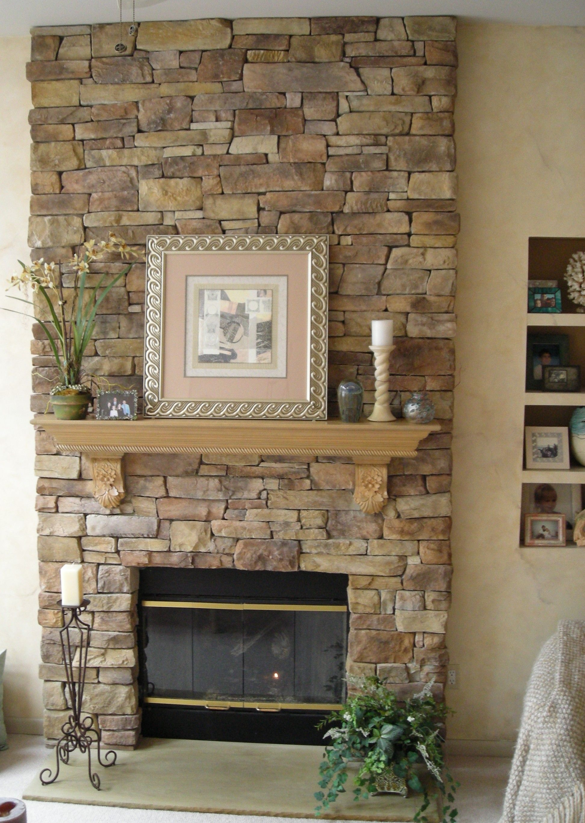 Interior Stone Fireplace Specializes In Faux Stone Veneer