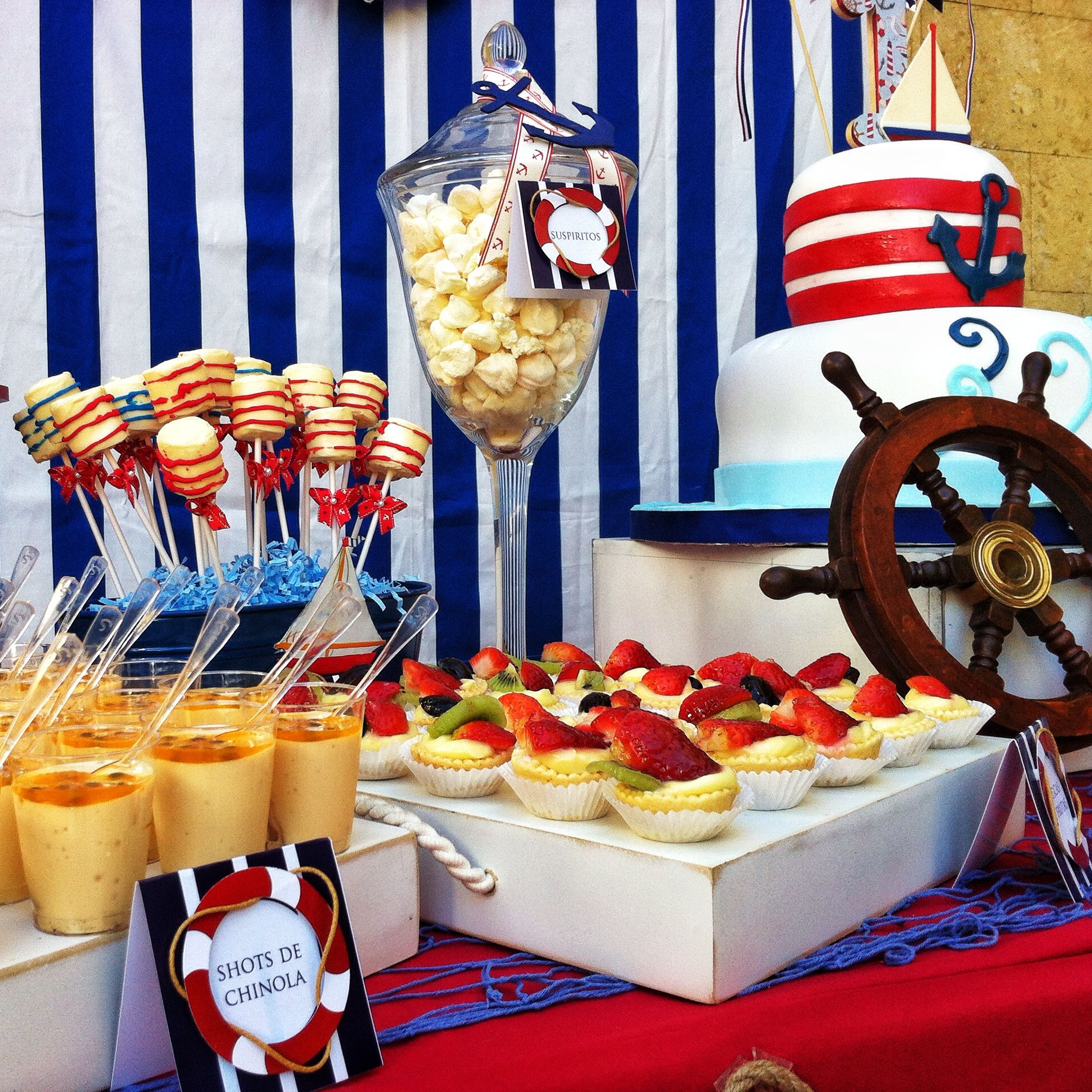 Nautical Desserts Table CAKE TABLES Styling by
