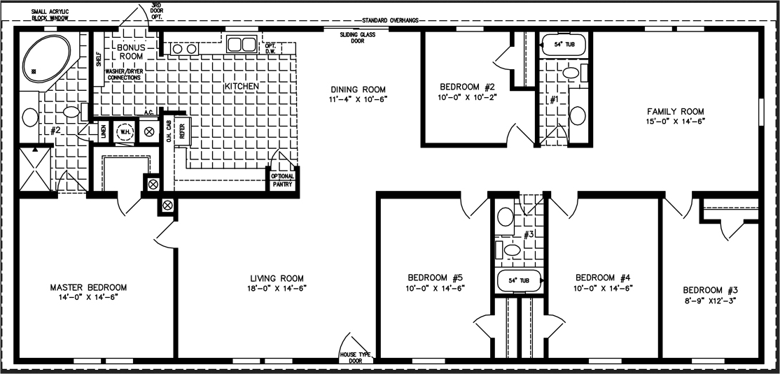 5 Bedroom Mobile Home Floor Plans Amazing House Plans