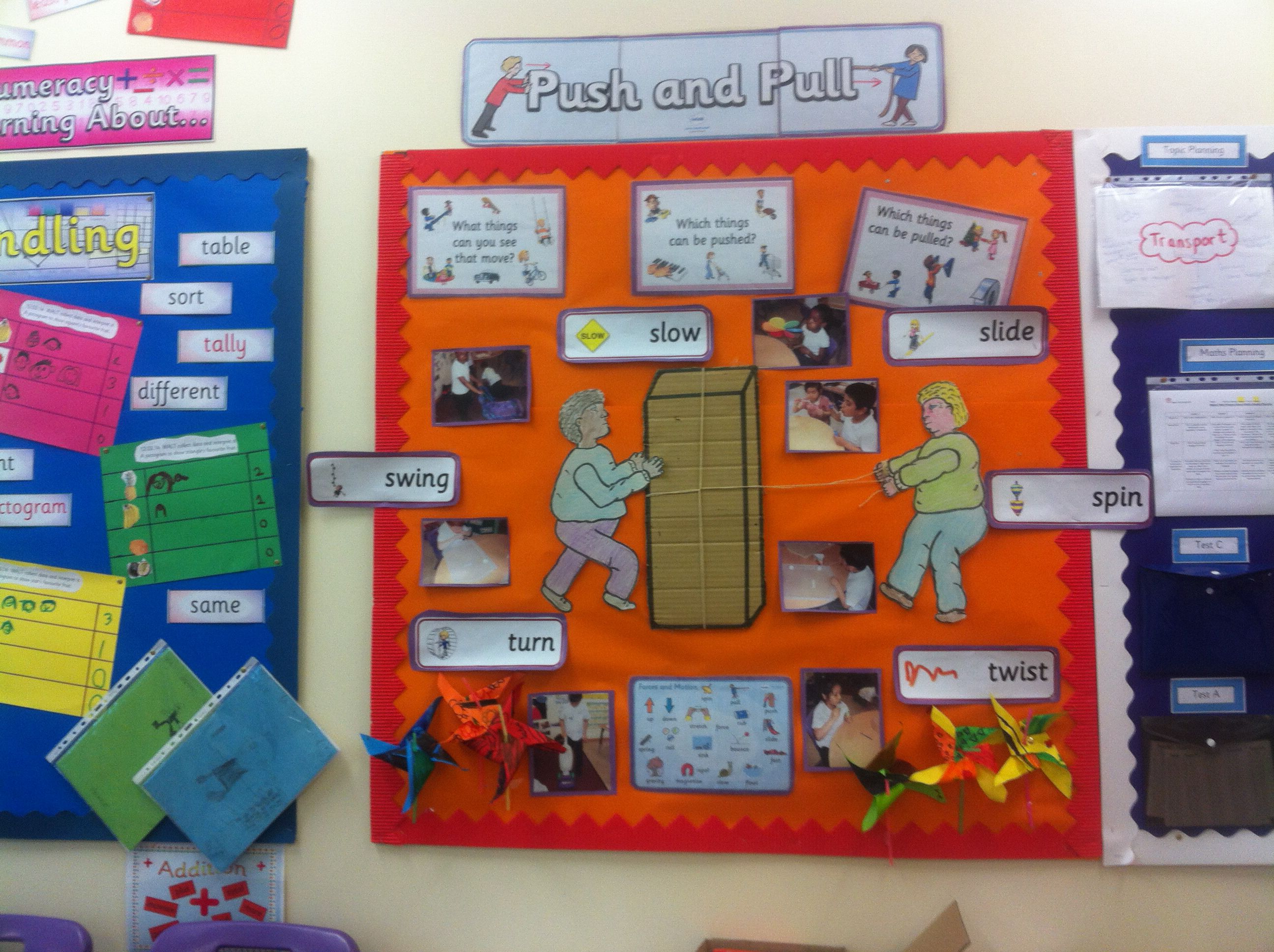 Push And Pull Forces Display I Created For A Year One