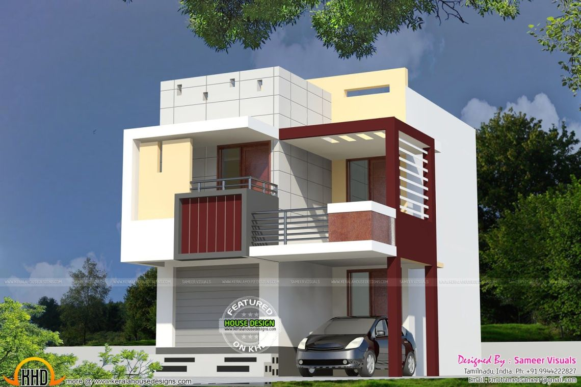 Front Design Of House In Indian Double Story   Interior Design