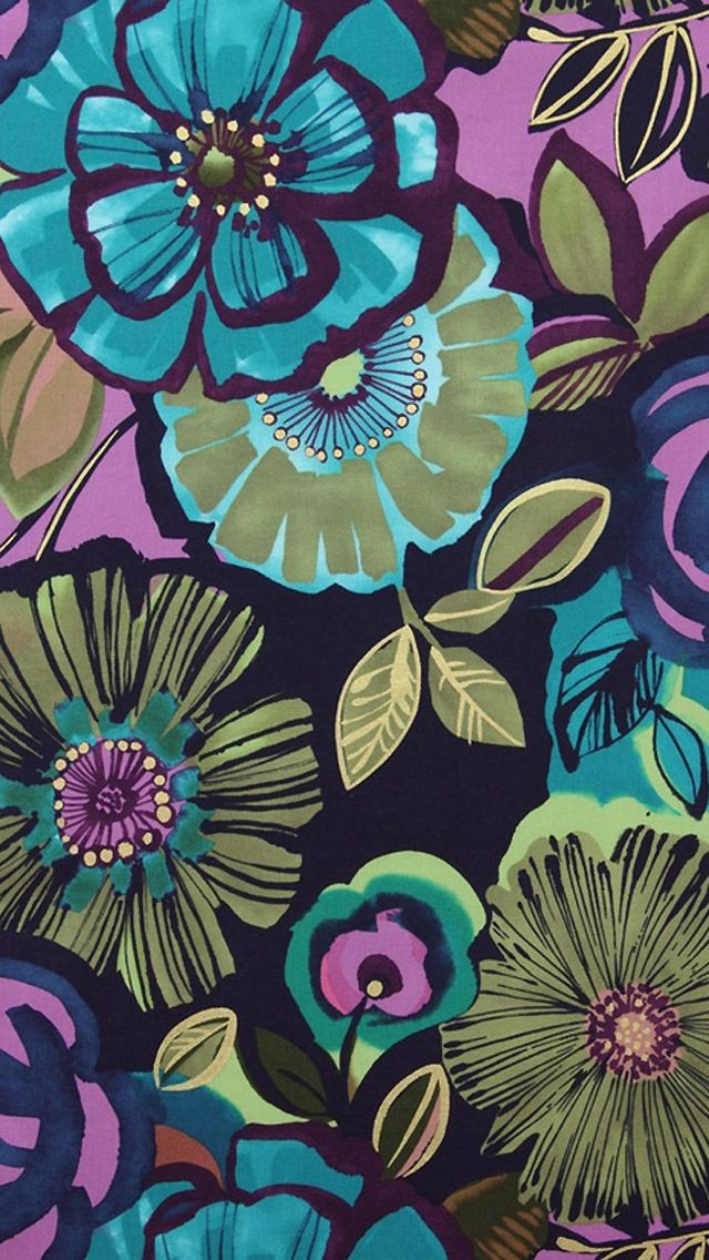 iPhone wallpaper floral aqua teal turquoise cool