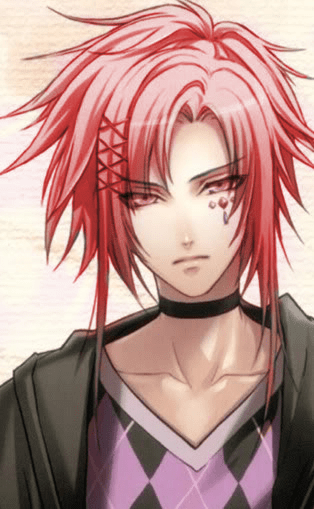 Pink eyes and red, braided hair Anime guys Pinterest