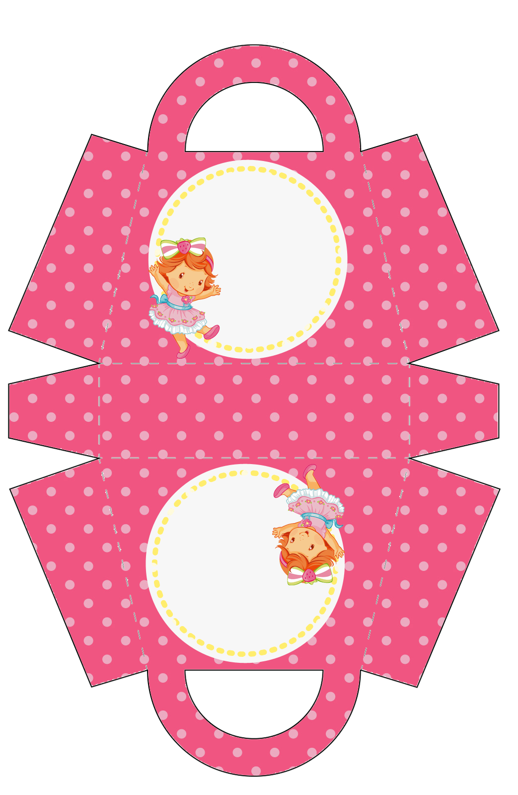 Strawberry Shortcake Baby Free Printable Paper Purse