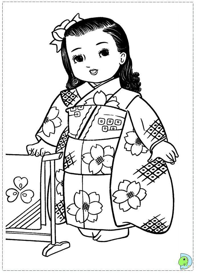 Chinese Girl Coloring Pages Fan Pandas Rhedcsqp7de: Coloring Pages For Chinese Girl At Baymontmadison.com