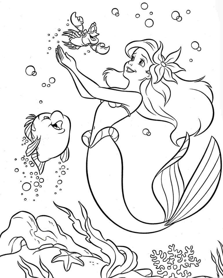 Colouring Pages Coloring Pages Disney Princess Little ... | free printable coloring pages disney ariel