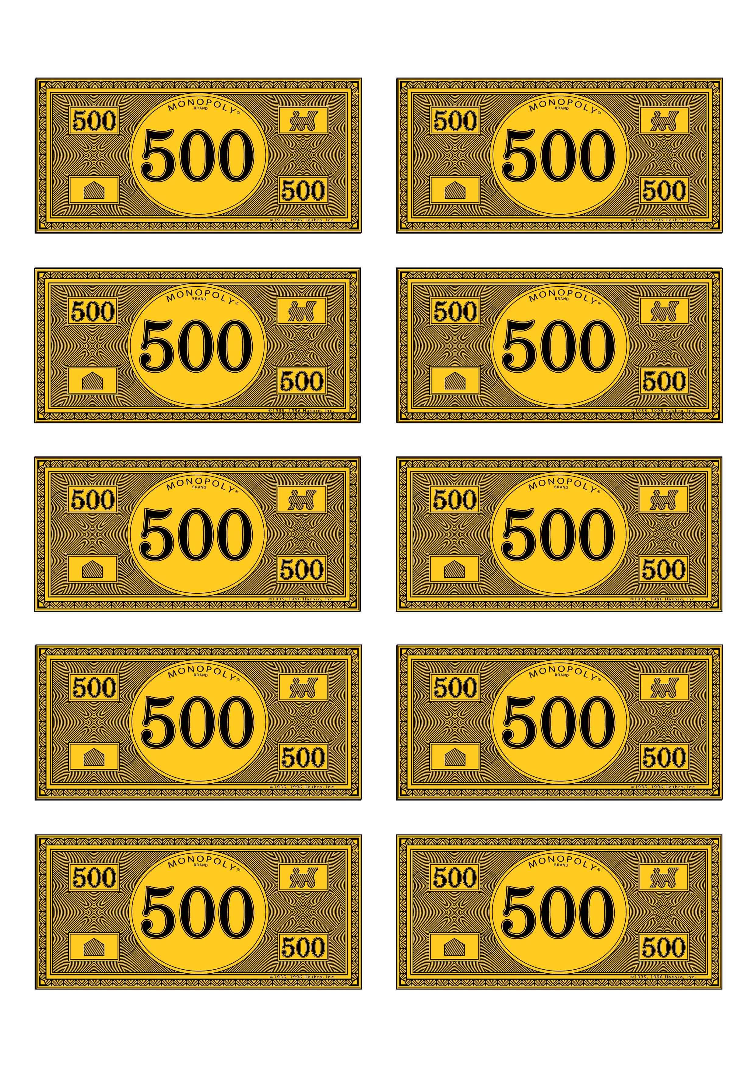Monopoly Money 500