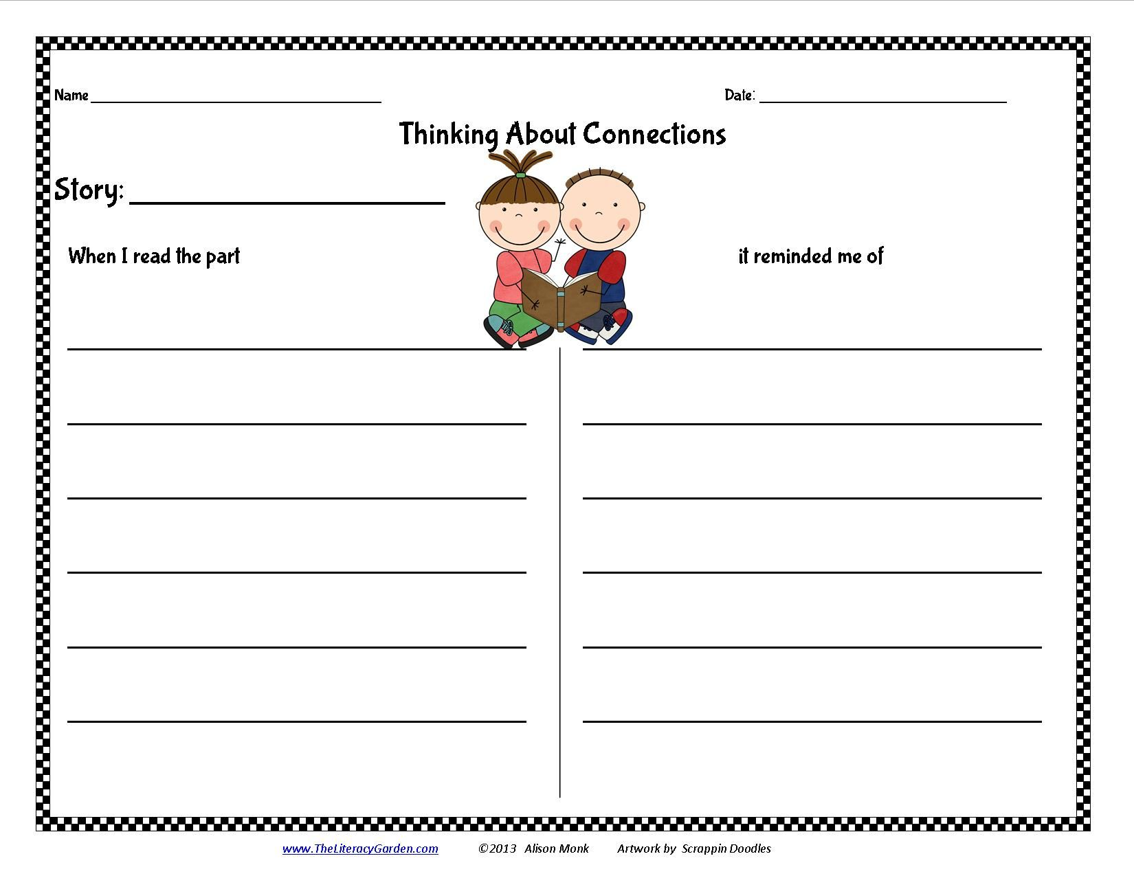 Making Connections Form Available From Theliteracygarden