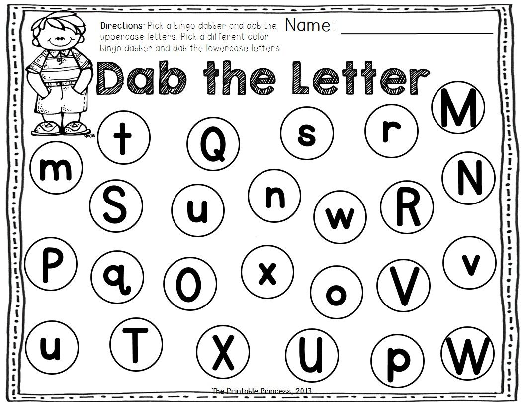 A Dab Of Learning Bingo Dabber Alphabet Amp Number Recognition Activities