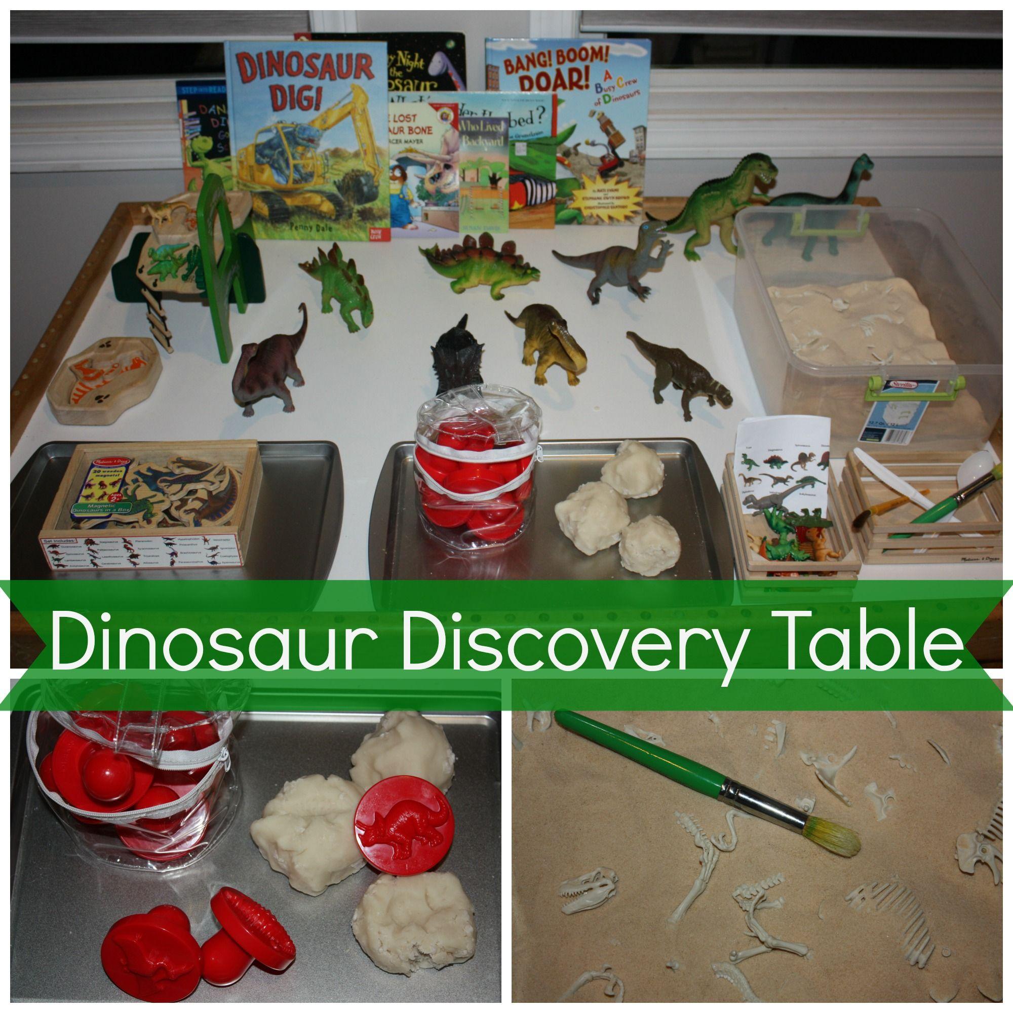 Preschool Dinosaur Discovery Table