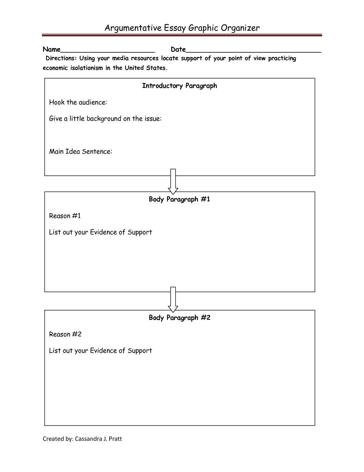 Image Detail For Argumentative Essay Graphic Organizer
