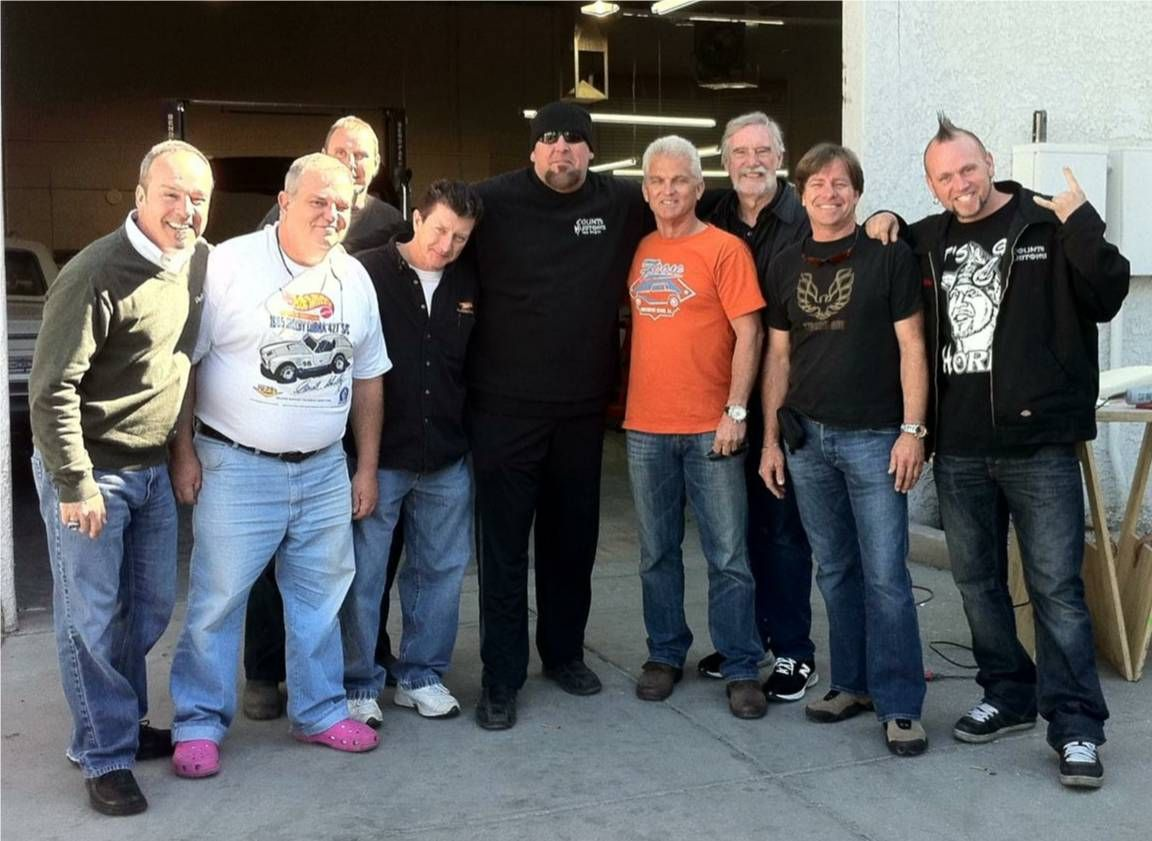 Mike Zarnock and friends hangin at Counts Kustoms in Vegas