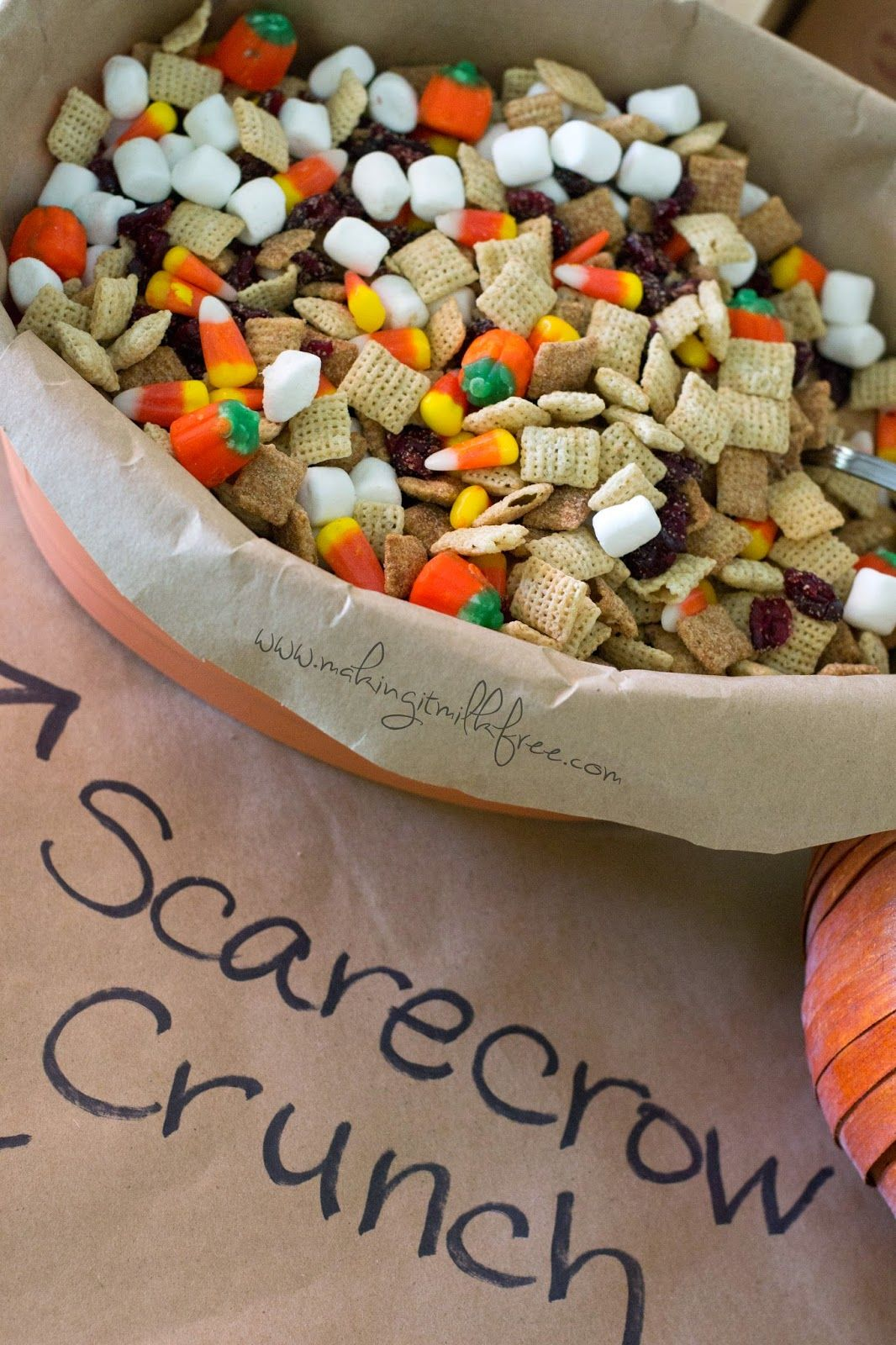 Scarecrow Crunch Trail Mix {dairy + gluten free} Nut