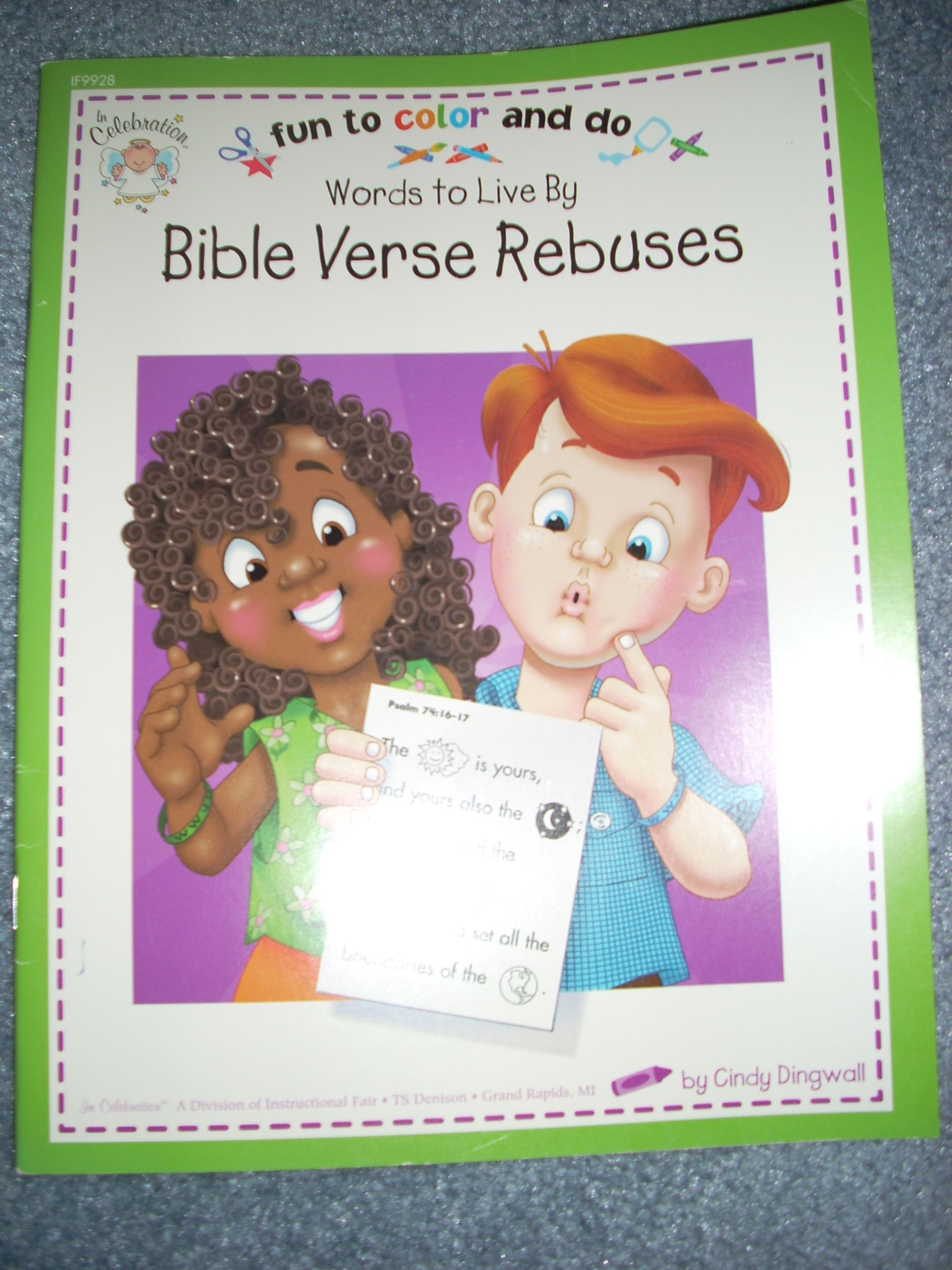 Words to Live By Bible Verse Rebuses...Learn Bible verses