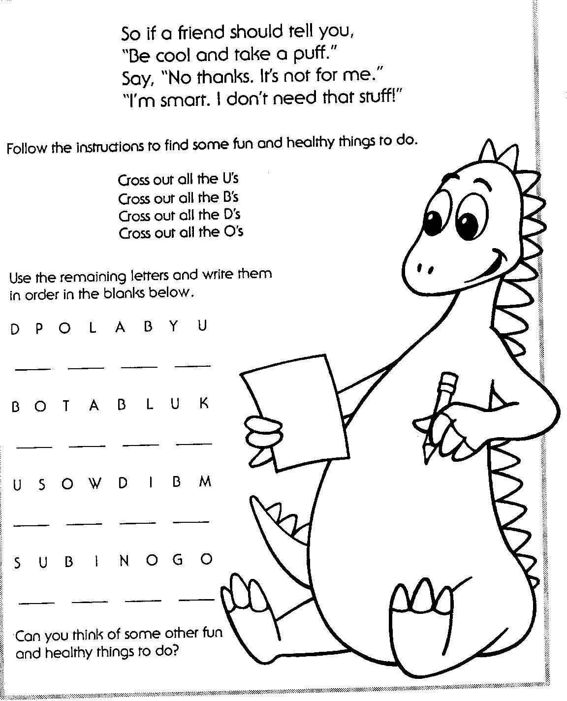 Red Ribbon Week Coloring Pages
