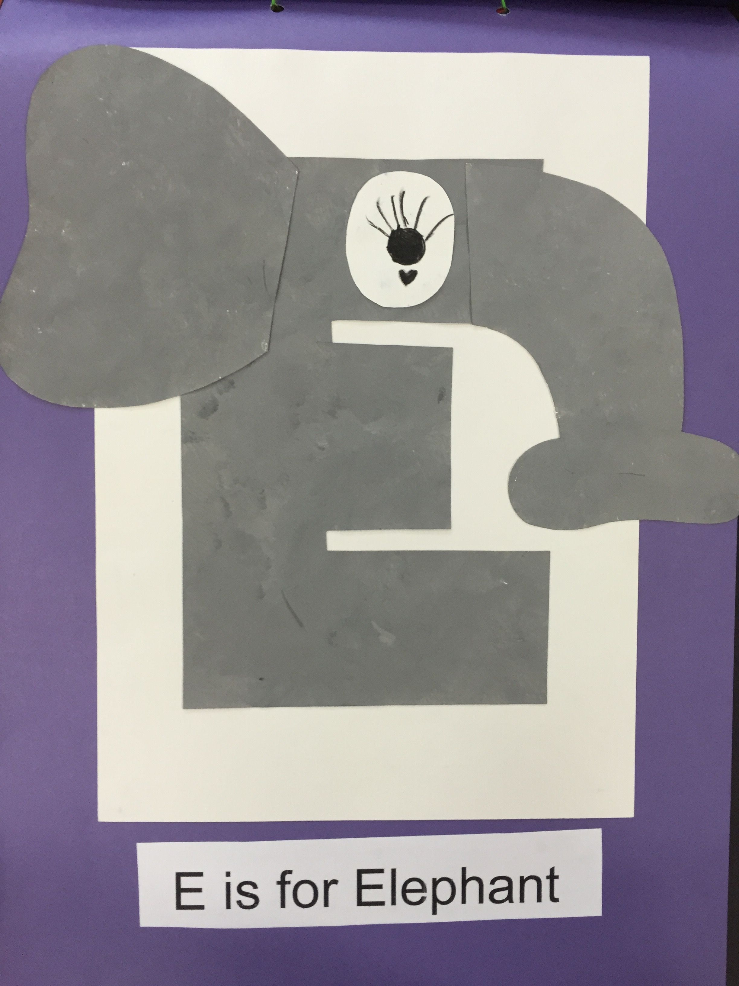 E Is For Elephant Art Fine Motor Craft Abc Fun Activity For Preschoolers Learning The