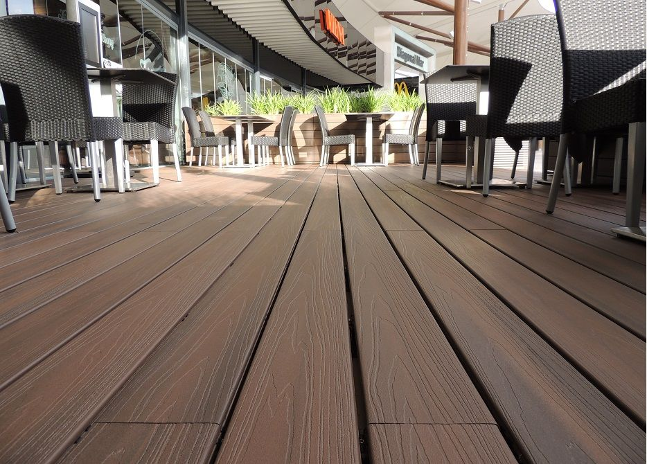 composite wood plastic outdoor decking cost, cheap wpc