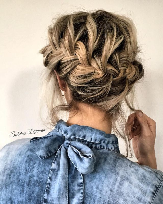 easy effortless braided updo - fabmood | wedding colors