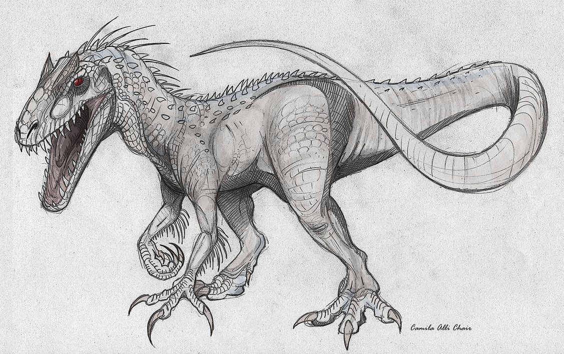 Indominus rex by IguanaTeteia on DeviantArt Monsters