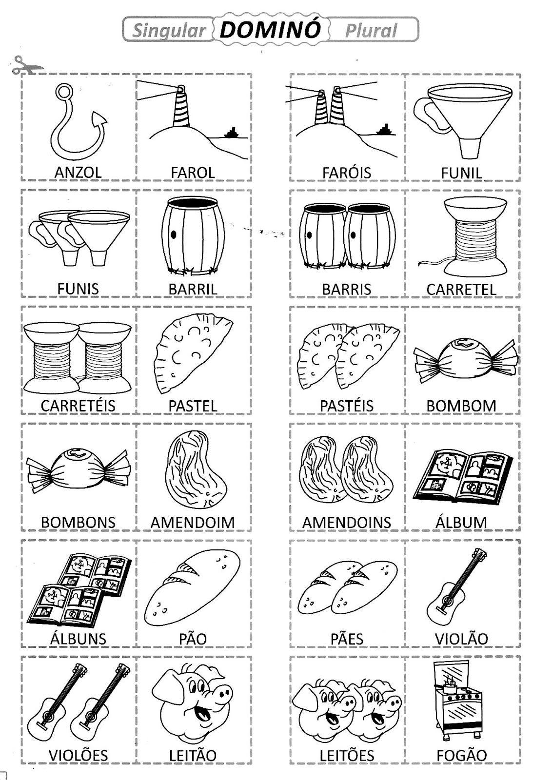 Singular Plural Atividades Lingua Portuguesa Gramatica