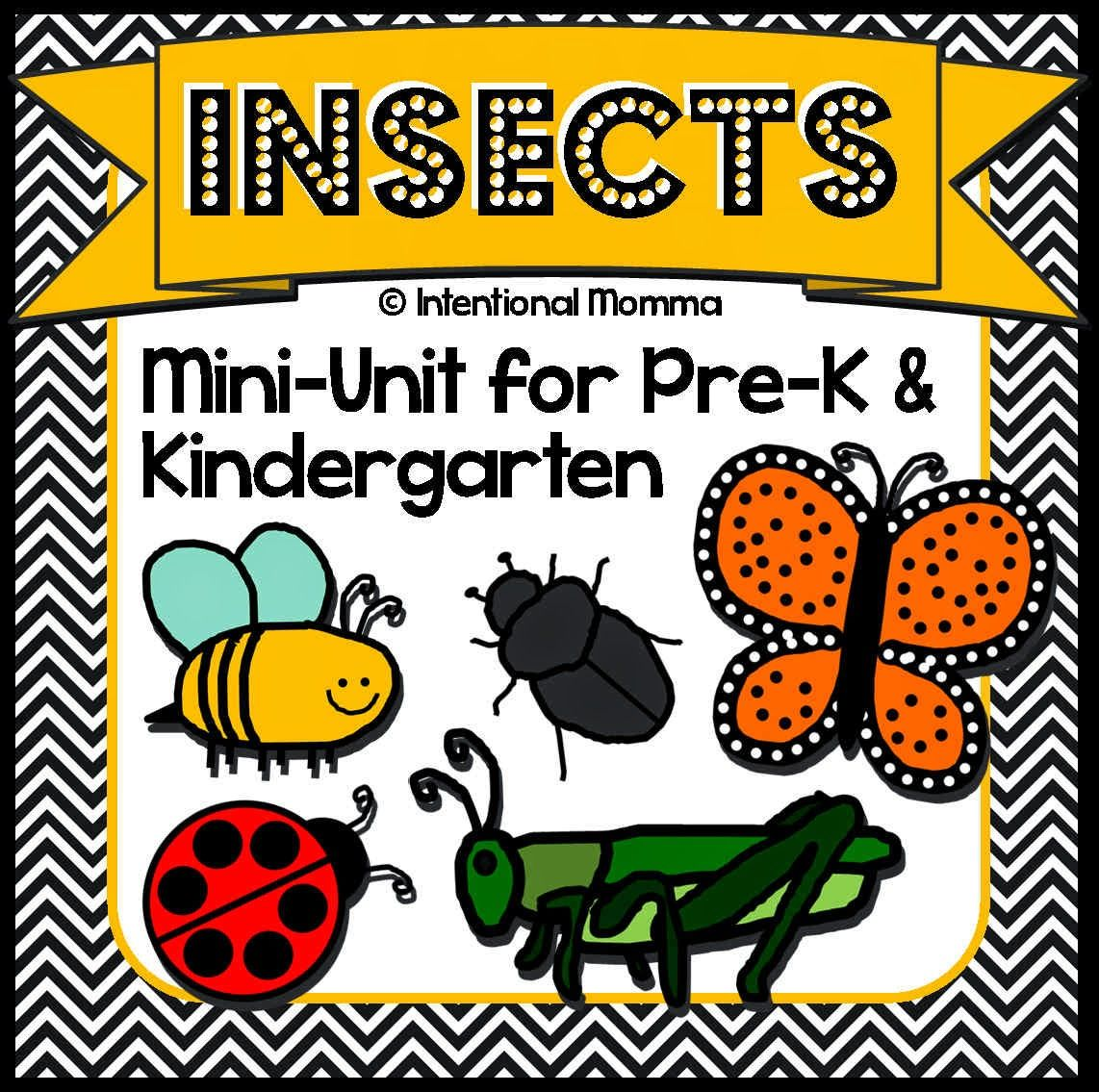 Insects And Bugs Printable Mini Unit Worksheets For Pre K Kindergarten Homeschool Science