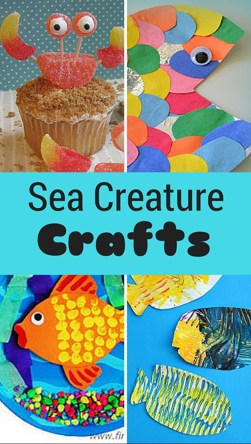 15 Sea Creatures for Kids to Make Sea activities and
