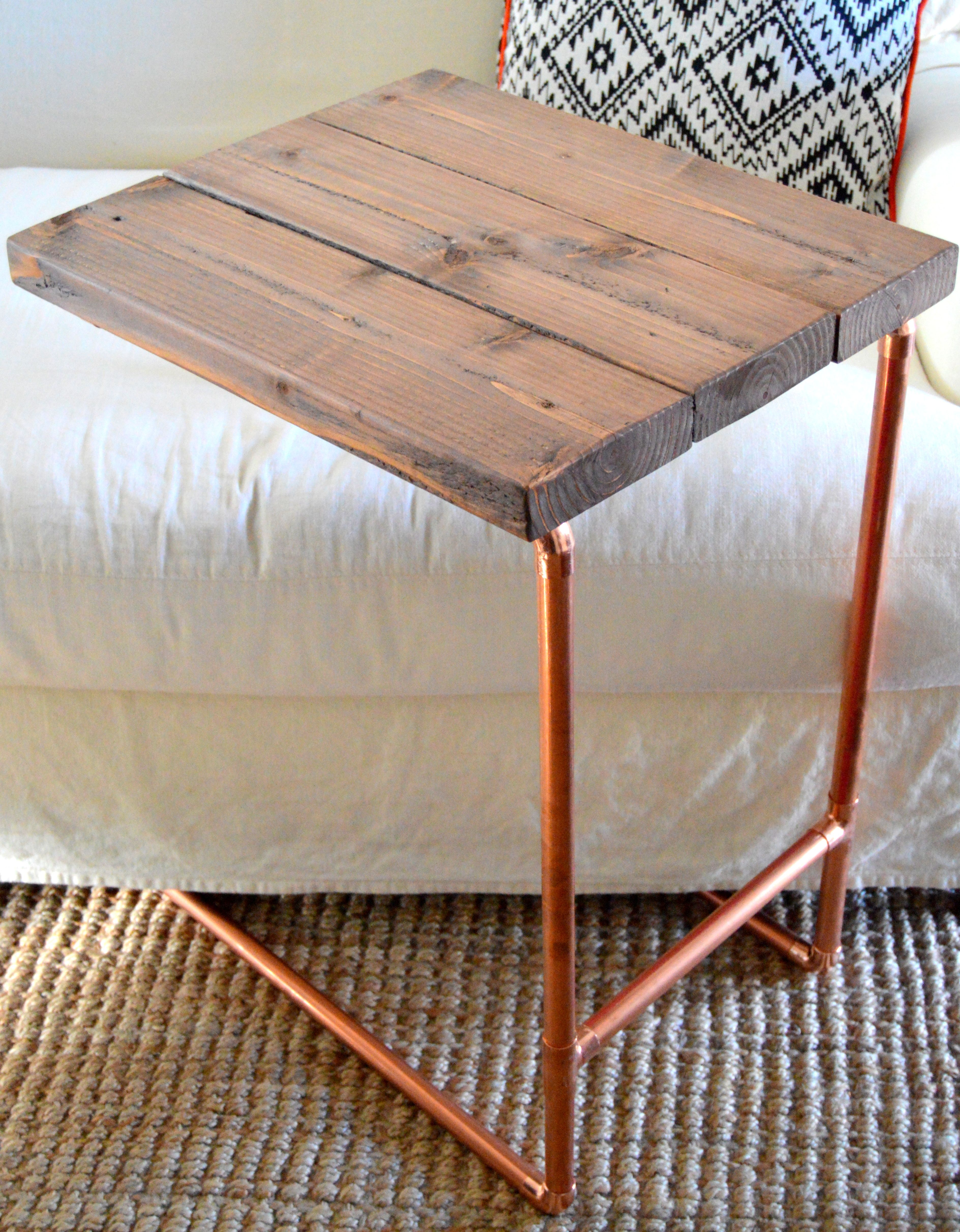 Metal Pipe Laptop Table {Home Depot Gift Challenge