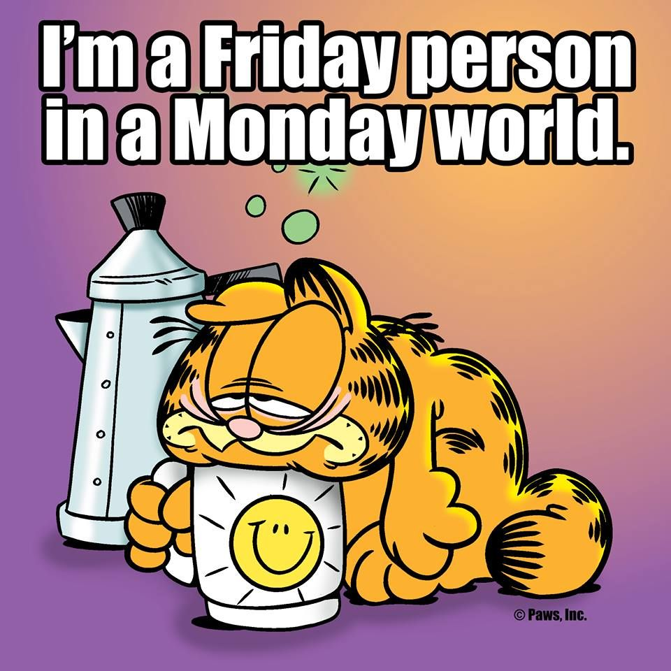I'm a Friday person in a Monday world. Garfield & Odie