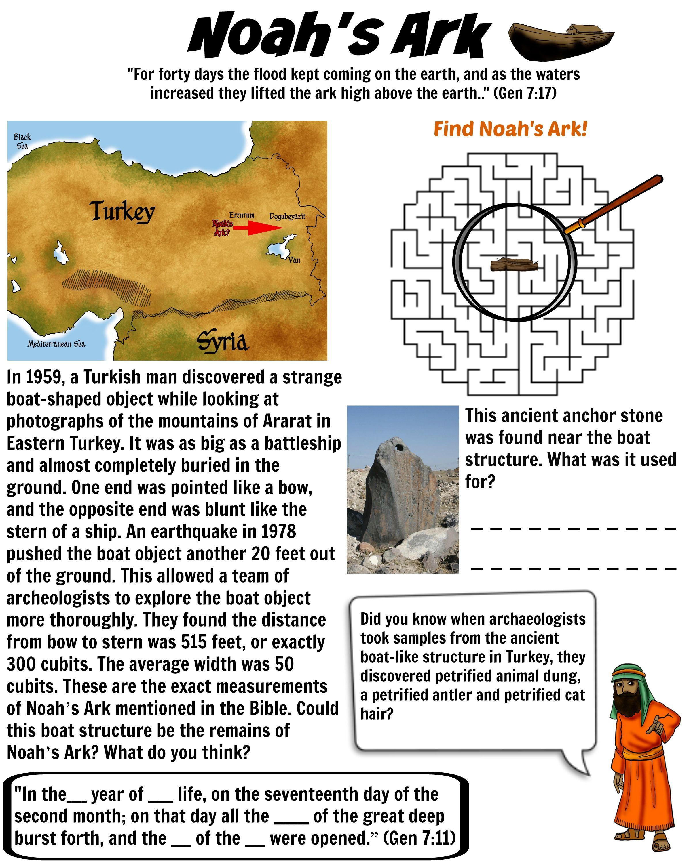 Noah S Ark Worksheet 1 Has Noah S Ark Been Found Free