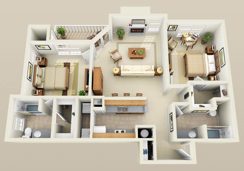 three bedroom flat layout - google search | houses/apartments