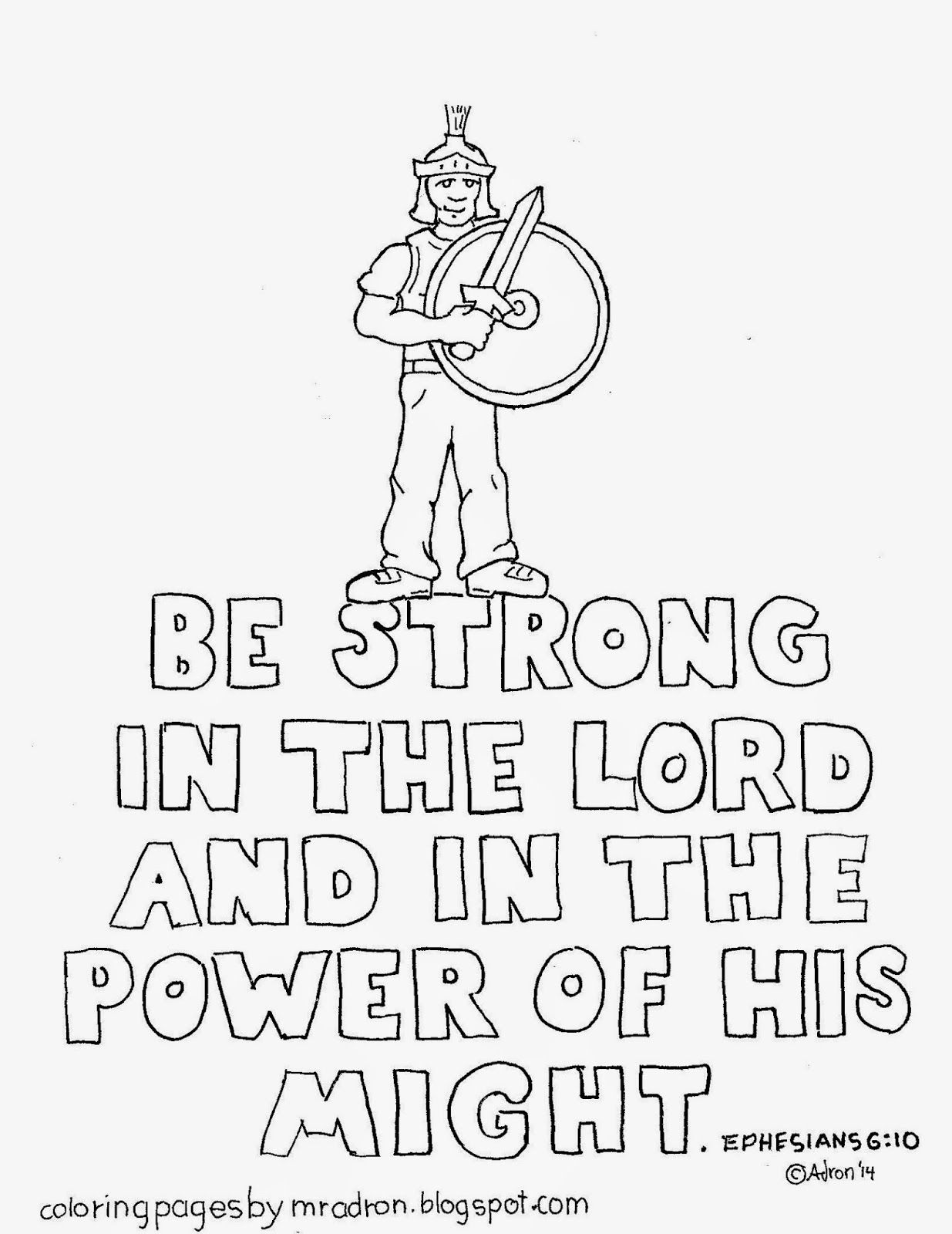 Be Strong In The Lord Coloring Page See More At My Blog