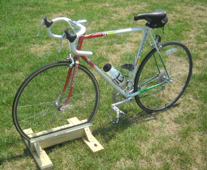 Diy bike stand more triathlon and swimming ideas