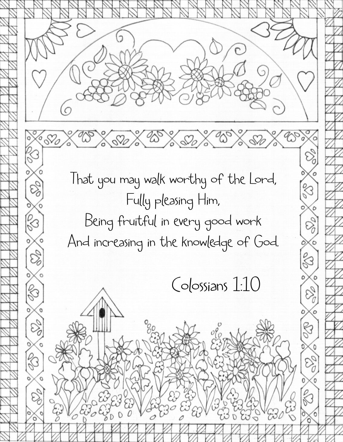 Colossians 1 10 Bible Coloring Page That You May Walk