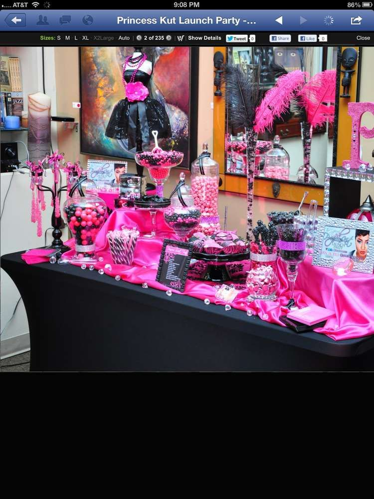 Hot Pink and Black Launch Party Party Ideas Launch party