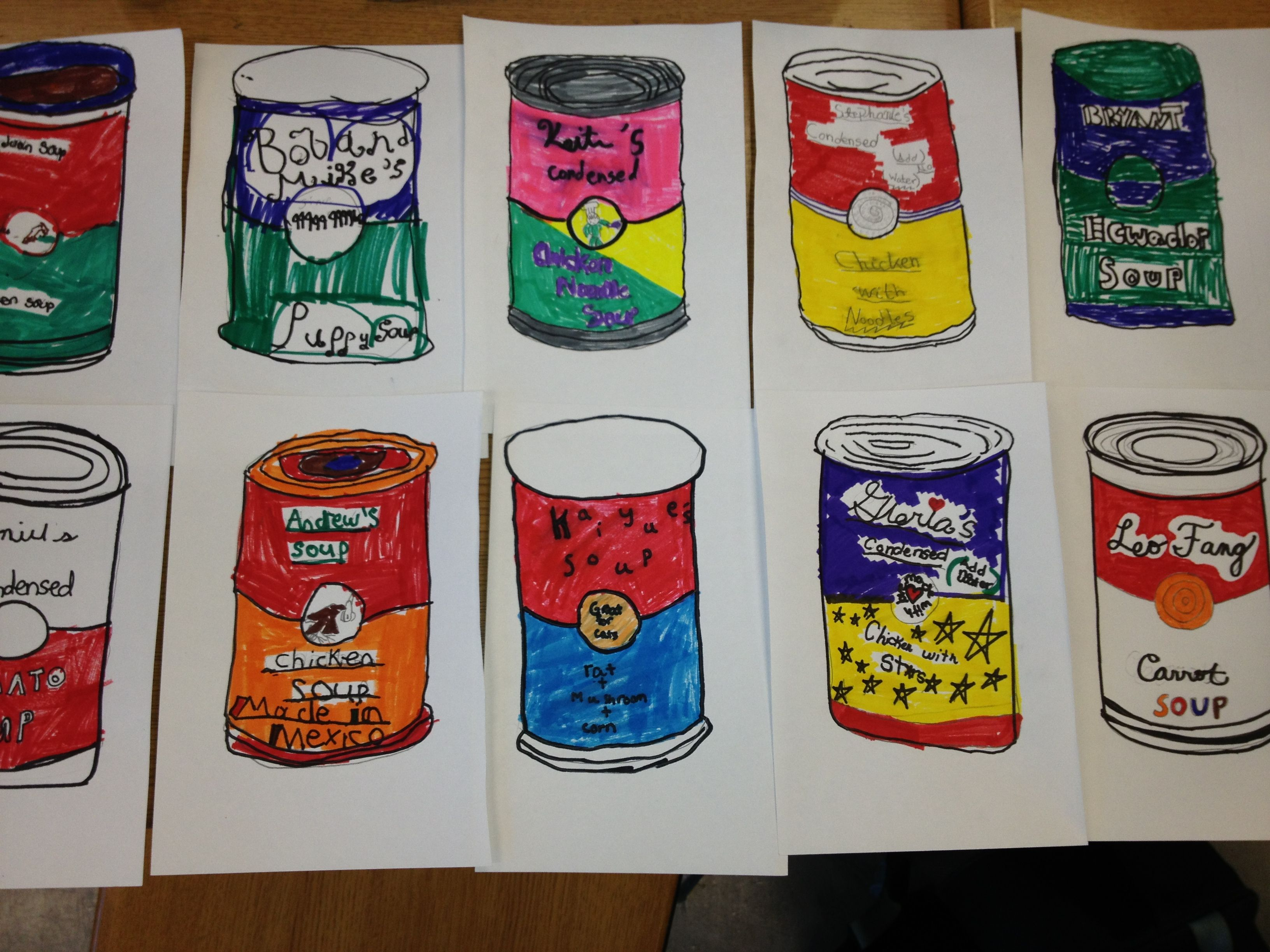 Pop Art Andy Warhol 4 Th Grade