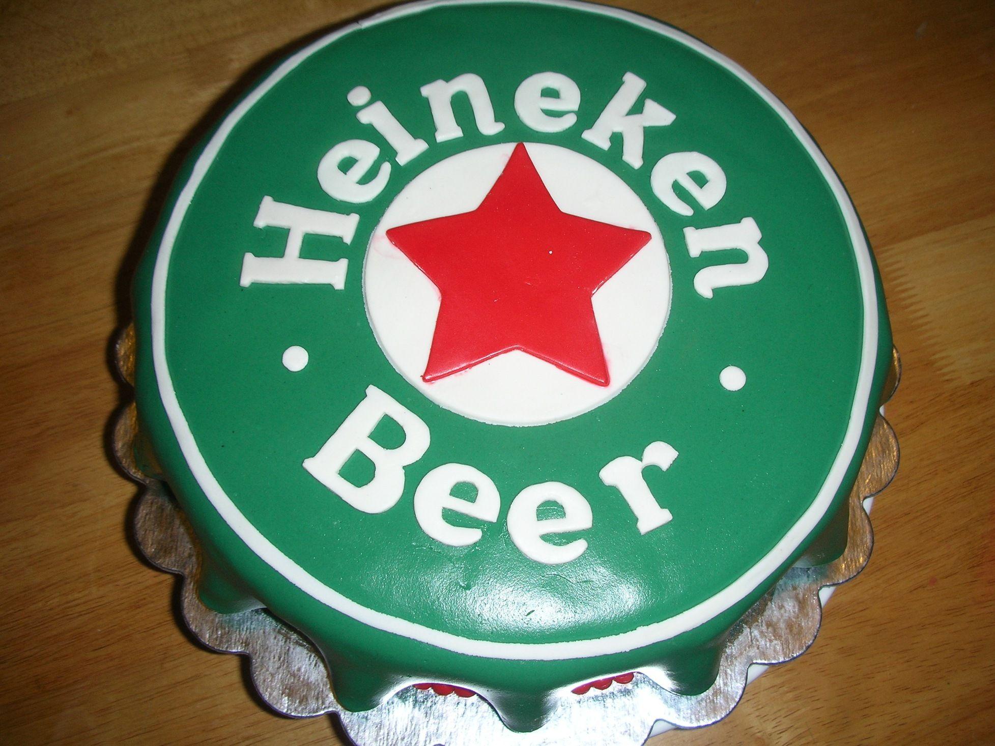 Heineken Cake Bizcocho Chapa De En Forma